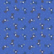 Lewis & Irene - Small Things Mythical & Magical - 5924 - Wizards on Blue - SM10.2 - Cotton Fabric